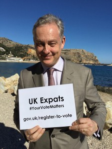 British Ambassador to Spain Simon Manley launches expat voting awareness campaign in Alicante. Photo: British Embassy Madrid