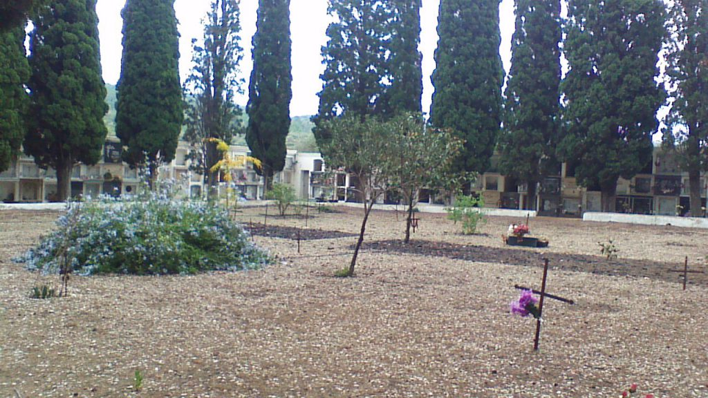 The site of the mass grave at El Perelló cemetery