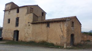 The farm building that housed Clinic No 3 during the Battle of the Ebro