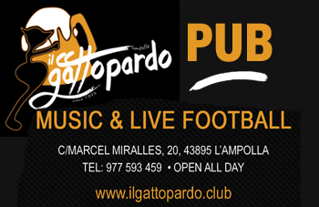 Pub and pub food in l'Ampolla, with live football
