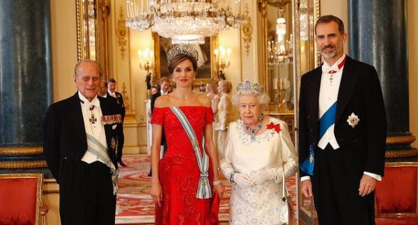Queen Letizia and King Felipe of Spain on the UK state visit in July 2017