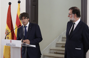 Piugdemont and Rajoy terror attacks press call