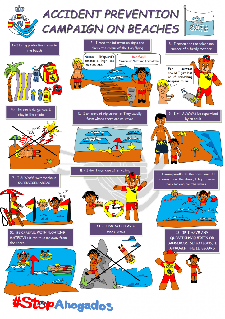 Advice to stay safe on the beach